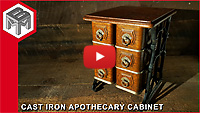 Cast Iron Apothecary Cabinet